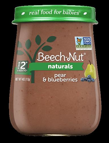 Naturals pear & blueberries jar