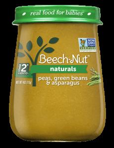 Naturals peas, green beans & asparagus jar