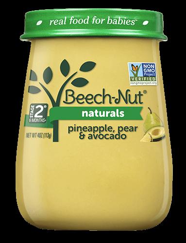 Naturals pineapple, pear & avocado jar
