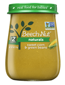 Naturals sweet corn & green beans jar