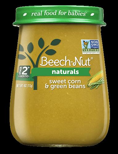 Naturals sweet corn & green beans jar