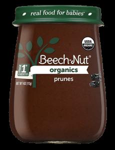 Organics prunes jar