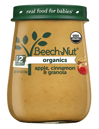 Organics apple, cinnamon & granola jar