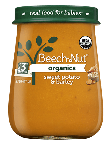 Organics sweet potato & barley jar