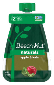 Naturals apple & kale baby food pouch