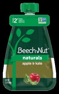 Naturals apple & kale pouch