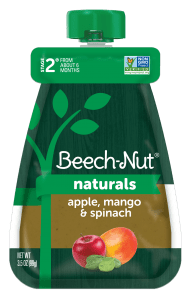 Naturals apple, mango & spinach pouch