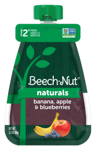 Naturals banana, apple & blueberries baby food pouch