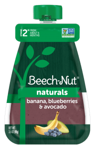 Naturals banana, blueberries & avocado pouch